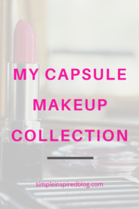 My Capsule Makeup Collection